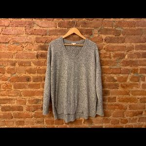 Oversized Grey Knit Sweater